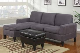 Gray Microfiber Sectional Sofa Modern Small Gray Microfiber Sectional Sofa Reversible Chaise