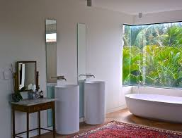 Contemporary Pedestal Sink Contemporary Master Bathroom With Freestanding Bathtub U0026 Pedestal