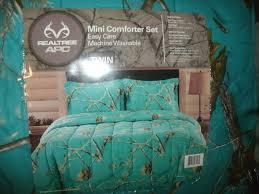 Blue Camo Bed Set Realtree Apc Teal Comforter Sham Set Easy Care