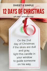 easy 12 days of christmas idea printables