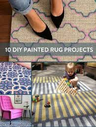 Painting An Outdoor Rug Did You Know You Can Paint A Rug Easy Craft And Paint Rug