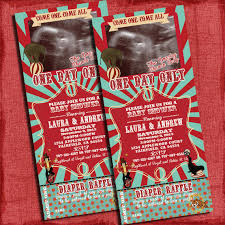 circus baby shower printable vintage circus theme baby shower ticket 4x9