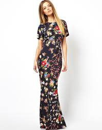 asos maxi dress in 90s grunge floral print in lyst