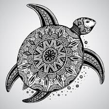 turtle with floral ornaments vector vector animal vector floral