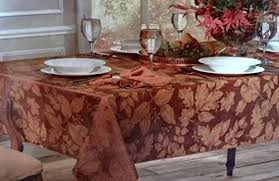 autumn harvest table linens brownstone gallery autumn harvest damask tablecloth bronze