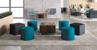 Office Lounge Area With Modern Circular Chairs And Coffee Table - Office lounge furniture