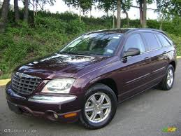 2004 deep molten red pearl chrysler pacifica awd 35427634