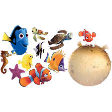 finding nemo characters silhouette clipart images collection