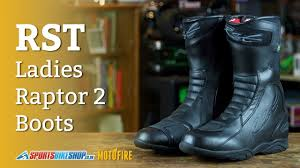 budget motorcycle boots rst ladies raptor 2 waterproof boots review youtube