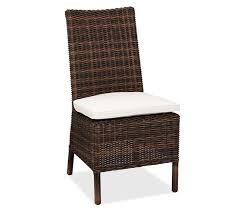 Wicker Patio Dining Chairs Torrey All Weather Wicker Dining Side Chair Espresso Pottery Barn