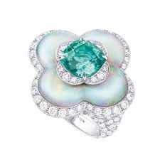 natural white opal blossom high jewellery opal and tourmaline ring louis vuitton