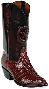 Images of New Cowboy Square Toe Alligator Exotic Skin Boots Size 8 Botas De