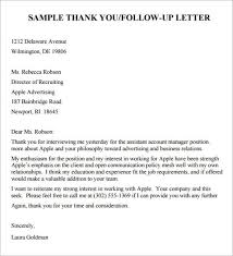 how to write a follow up letter after an interview format