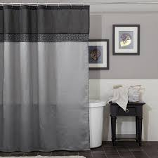 bathroom grey shower curtain with bamboo pattern for bathroom