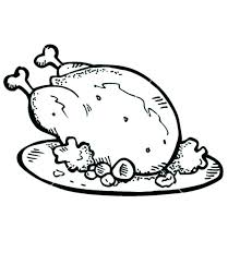 coloring page of a chicken chicken coloring page well cooked roasted chicken with drumstick
