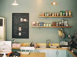 small black chalkboard ideas with wooden countertop and l shaped