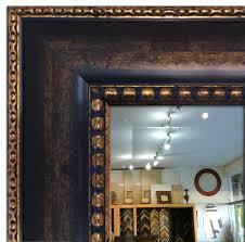 Oil Rubbed Bronze Bathroom Mirror by Wall Framed Mirror Bathroom Vanity Mirror Dark Brown U0026 Gold Ebay