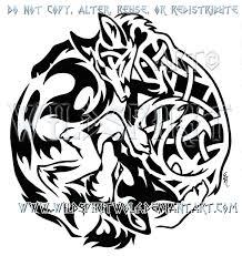tribal wolf knotwork fox design by wildspiritwolf on deviantart