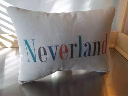 neverland pillow peter pan throw pillow gift new baby gift
