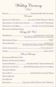 wedding programs wording sles wedding reception program sle service kid s wedding ideas