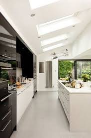 sleek minimalist modern kitchen design in wandsworth with handle