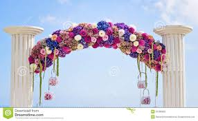 flower arch flower wedding arch stock photo image 51206903