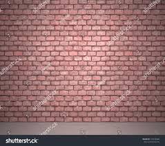 exposed brick wall next sidewalk stock illustration 118195948