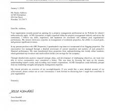 sample property management cover letter commercial property