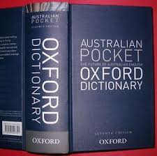Oxford Dictionary Australian Pocket Oxford Dictionary By Oxford Press