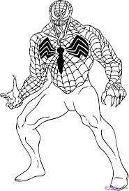 venom spiderman coloring pages print 3 free agent spider man