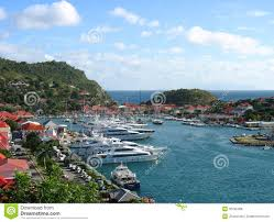 Saint Barts Map by Aerial View At Gustavia Harbor With Mega Yachts At St Barts