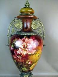 Antique China Vases Very Nice Large Antique Porcelain Vase With Lid Gilded Hand