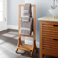 shelf floor l with uncategorized towel rack stand l bamboo towel rack aldona