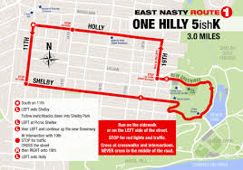Running Map Route by Wednesday Runs East Nasty