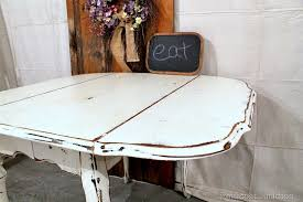 Vintage Drop Leaf Table Stylish Painted Drop Leaf Table Vintage White Chalk Paint Drop