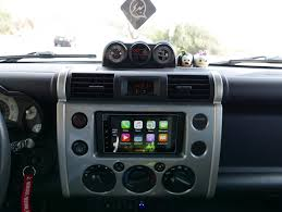 fj cruiser car proper sized apple car play head unit toyota fj cruiser forum