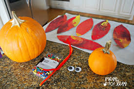 turkey pumpkins pumpkin turkey craft mess for less