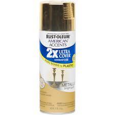 Metallic Gold Fabric Spray Paint - rust oleum american accents ultra cover 2x metallic gold spray