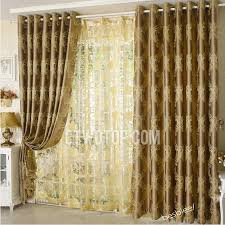 Yellow Brown Curtains Impressive Yellow Brown Curtains Designs With Jacquard Room
