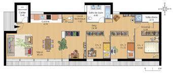 plan maison contemporaine plain pied 4 chambres plan maison moderne plain pied
