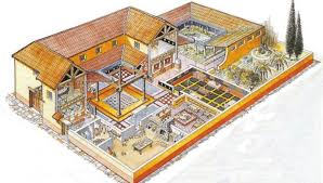 roman insula floor plan intricate mosaic and underfloor heating among features for ancient