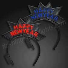 led new years light up happy new year starburst headbands by
