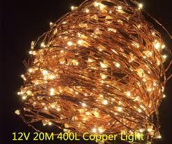 400 led outdoor christmas lights copper led lights 12v outdoor christmas string fairy lighting 20m