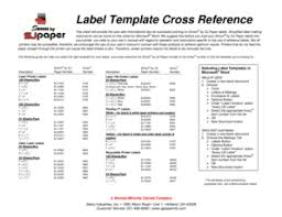 fillable online label template cross reference selco industries