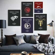 game of thrones home decor game of thrones movie tv poster vintage wall art canvas prints