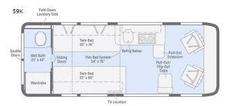 class b rv floor plans travato motor home class b rv sales 2 floorplans