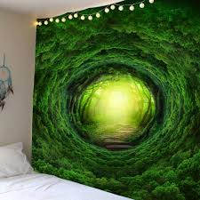 nature tree hole wall art tapestry green w inch l inch in wall nature tree hole wall art tapestry green w79 inch l59 inch