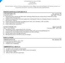 construction worker resume concrete laborer resume construction worker resume template