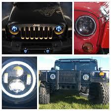 headlights jeep wrangler 7 led headlight jeep wrangler led headlights assembly with