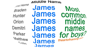 middle names the of naming the most common middle names for boys